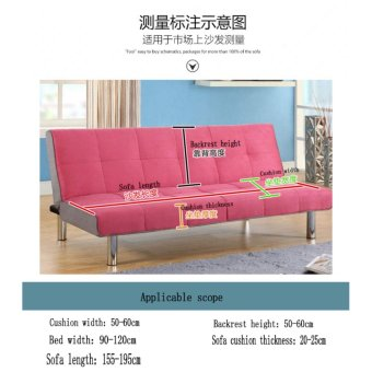 155-195cm Elasticity Folding No Handrail Slipcover #Coffee sofa cover(not including pillow) - intl - 2