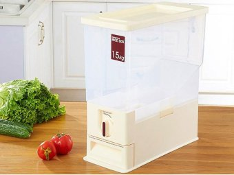 15KG Transparent Rice Dispenser Storage Container - intl - 3