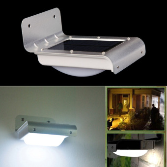 16 LED Solar Power Motion Sensor Garden Security Lamp Outdoor Light