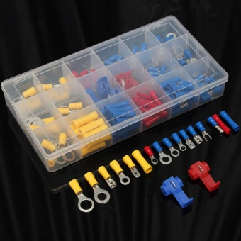 160Pcs Heat Shrink Wire Connector Kit Assorted Automotive Spade Bullet Terminals - intl