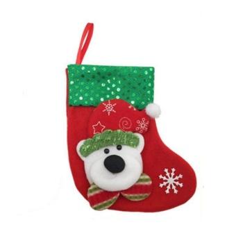 16*9*12cm Christmas Candy Gift Bag Xmas Hanging Decor (A1107 Bear) - intl