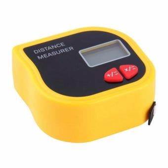 18M Mini Ultrasonic Digital Tape Measure Laser Range FinderDistance Meter Laser Pointer Rangefinder Level Tool Measurer AreaYellow - intl - 2