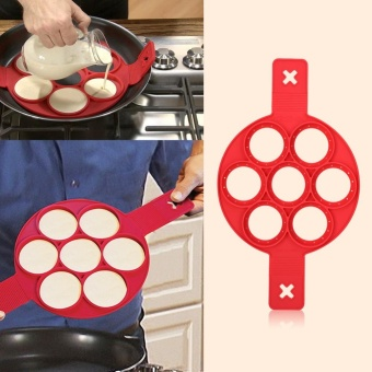 1Pc Home Non-stick Fantastic Pancake Silicone Ring Maker KitchenFrying Egg Omelets Mold(Red) - intl - 3