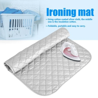 1Pc Portable Foldable Cotton Ironing Mat Silver Laundry Pad HomeUse (60 * 55cm) - intl