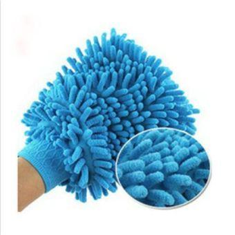 1Pc Super Mitt Microfiber Fiber Car Glove Cleaning Cloth Towel WashDry Tool - intl - 5
