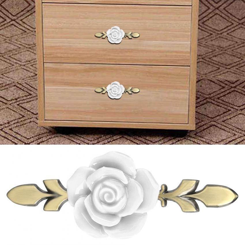 European Ceramic Drawer Cabinet Cupboard Door Knob Furniture Handle ...