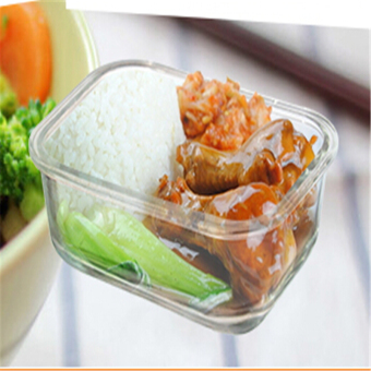 1PCS High Quality Tempered Glass Food Container Transparent FoodStorage Container Box - 1050ML - intl - 2