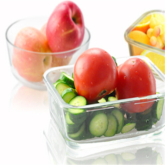 1PCS High Quality Tempered Glass Food Container Transparent FoodStorage Container Box - 1050ML - intl - 3