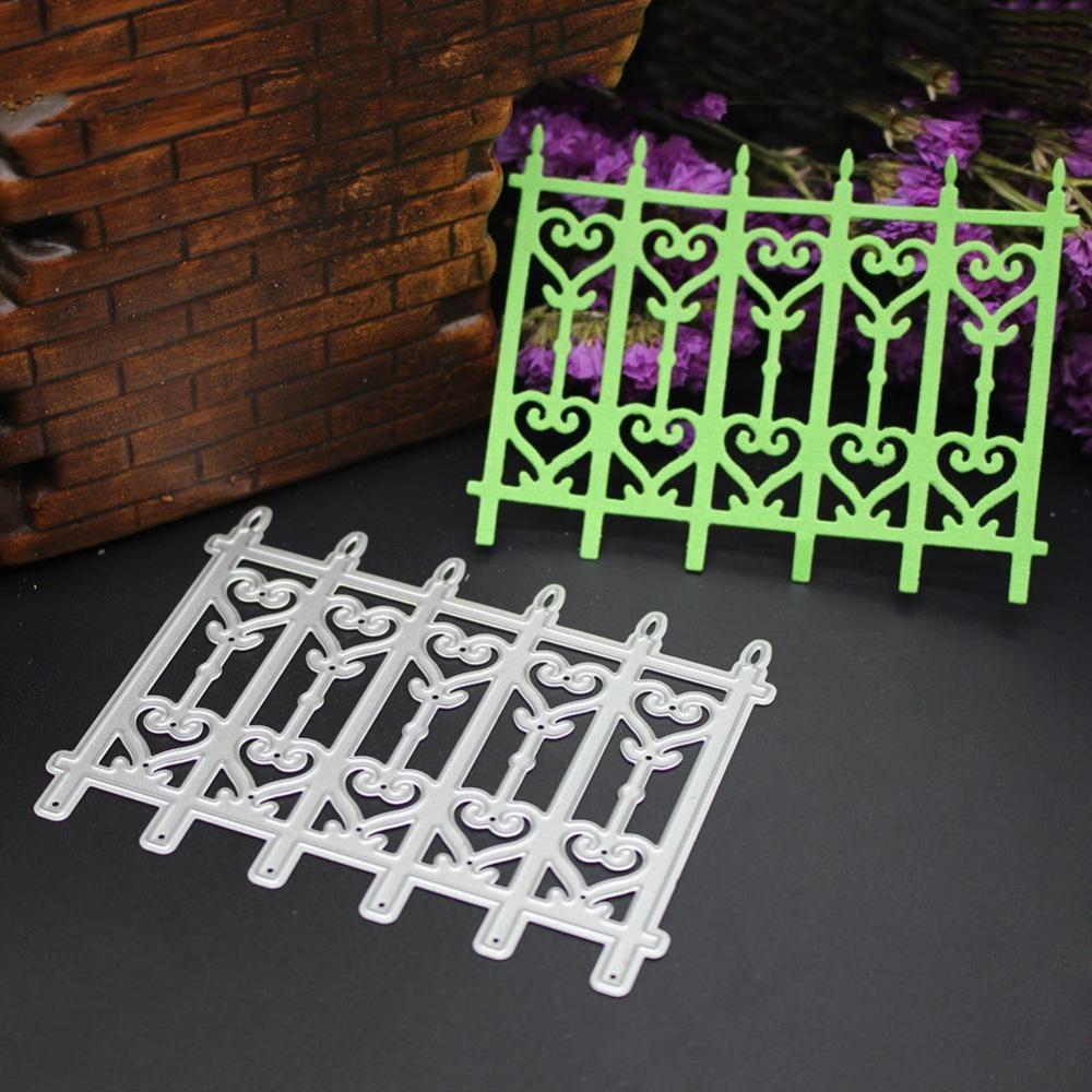 ... 1Pcs Silver Fence Door Metal Die Cutting Dies Stencil DIY ScrapbookEmbossing Craft - intl ...