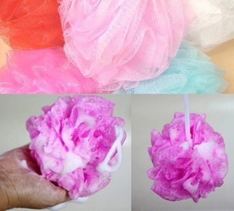 2 pcs/lot Loofah Flower Bath Ball Bath Tubs Cool Ball Bath TowelScrubber Body Cleaning Mesh Shower Wash Sponge - intl