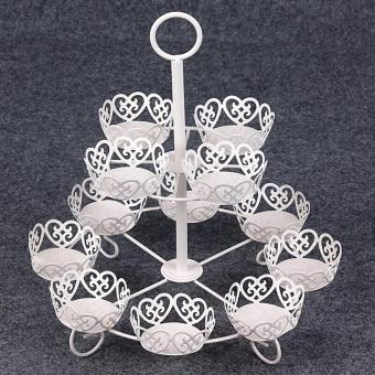 2 Tier 12 cups metal Cupcake Stand