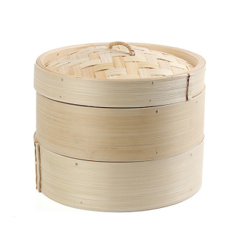 "2 Tier 8"" Bamboo Steamer Chinese Dim Sum Basket Rice Pasta Cooker Set with Lid Price Philippines"