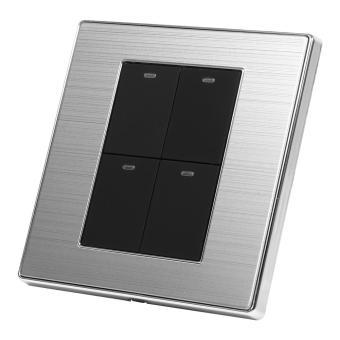 2 Way Modern Type Electrical Push Buttons Wall Light Switch (4Gang) - intl - 3