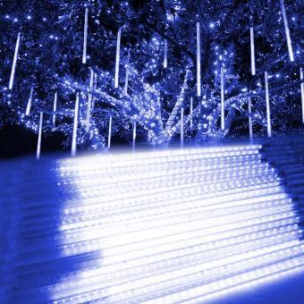 20 cm Meteor Shower Rain Light Tubes Christmas Lights (White) - 2