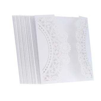 20 pcs White Laser Cut Wedding Celebration Birthday Party Invitation Card - 3