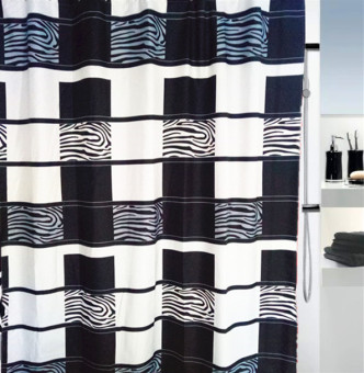 200cm polyester waterproof fabric shower curtain zebra grain trade shower curtain