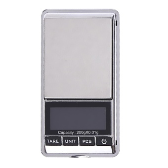 200g x 0.01g Mini LCD Digital Scale Portable Electronic PocketScales Diamond Balance Jewelry Weighing Tools - intl - 2