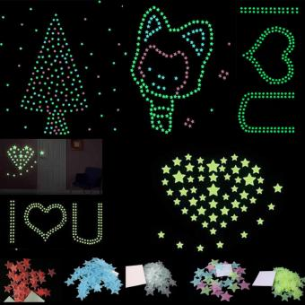 200PCS Stars Glow In The Dark Stickers Wall Decal Kids Baby Home Bedroom Decor - intl - 5