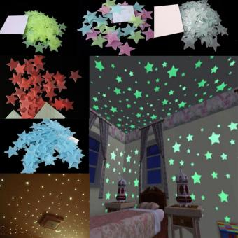 200PCS Stars Glow In The Dark Stickers Wall Decal Kids Baby Home Bedroom Decor - intl - 4