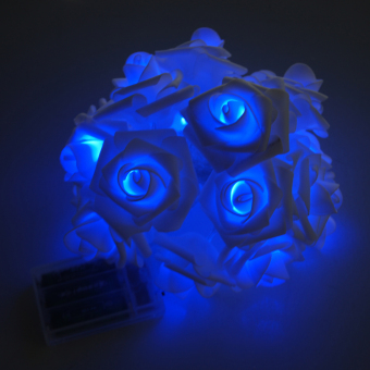 20LED Rose Wedding Garden Party Christmas Decoration String Light Blue (Intl) - picture 2