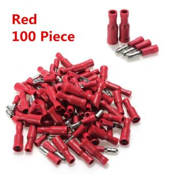 22-16 AWG Bullet Crimp Red Male Female Insulated TerminalsConnector Wire 100PCS - Intl