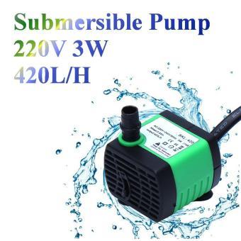220V 420L/H 3W Submersible Pump Aquarium Fish Tank Fountain WaterHydroponic - intl .