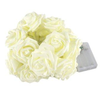 2.2m 20LED Rose Flower Fairy String Lights Wedding Garden Party Christmas Decoration- Intl
