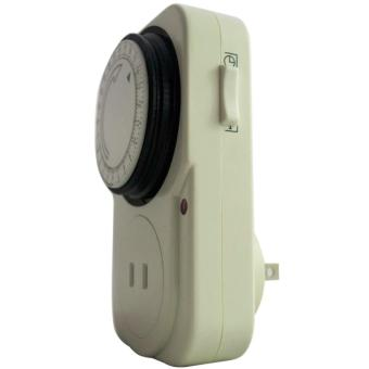 24 Hours Mechanical Electrical Plug Program Timer Power Switch Energy Saver - 4
