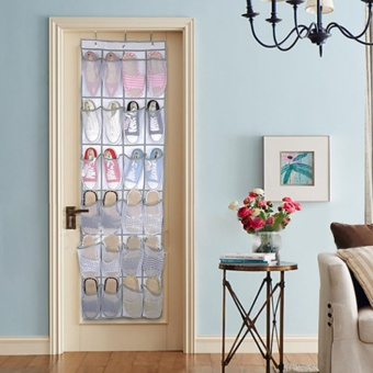 24 Pocket Shoe Space Door Hanging Organizer Rack Wall Bag StorageCloset Holder - intl - 2