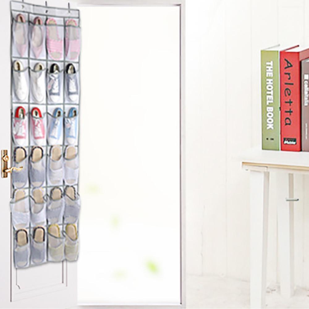... 24 Pocket Shoe Space Door Hanging Organizer Rack Wall Bag StorageCloset  Holder   Intl ...