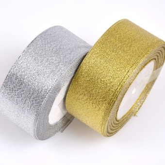 25/50 Yard Christmas Ribbon Red Green Gold Double Sided Silver 50mm - intl - picture 2