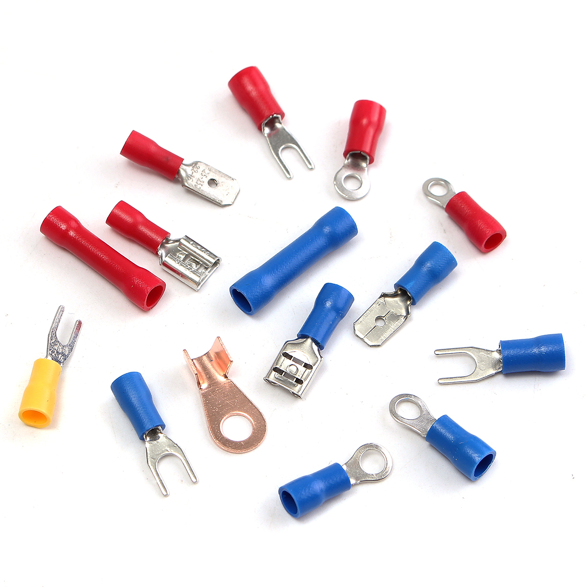 Philippines | 270pcs Insulated Crimp Terminals Wire Connectors Butt ...