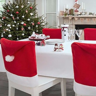 2PCS 6x Christmas Chairs Back Cover Dinner Table Santa Hat Home Party Xmas Decor Gift - intl - 4