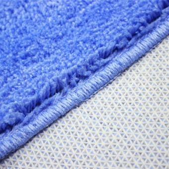 2Pcs Set Solid Color Bath Mat Toilet Non Slip Bathroom RugWaterproof Floor Carpet - intl - 4