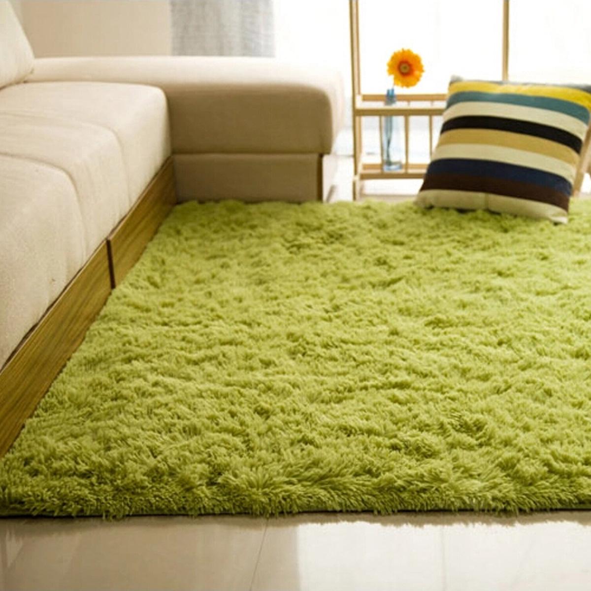 Fluffy Rugs Floor Yoga Bedroom Mat Source · 80120cm Green Source Blue Lazada .