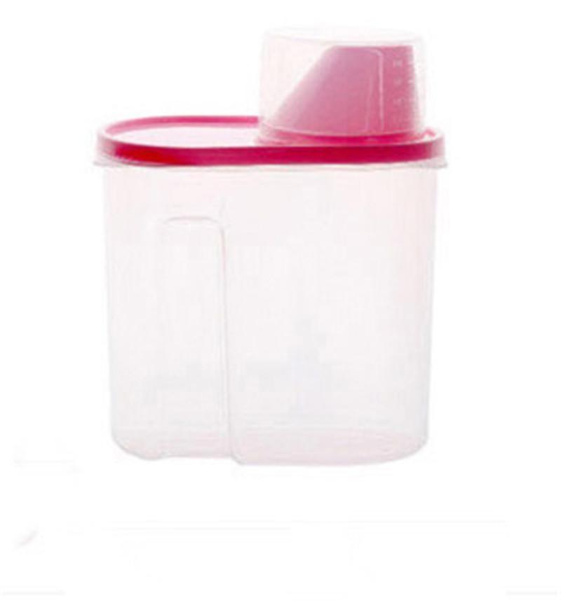 2Pcs/Set Plastic Kitchen Food Storage Boxes Cereal Grain Bean RiceStorage Container .