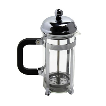 3-Cup Heat Resistant Glass French Press Coffee Maker Coffee PressTea Maker Pot with Stainless Steel Holder, 350ml 12 oz, Silver -intl