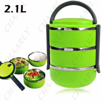 3 Layer Stainless Steel Thermal Bento Lunch Box - 2