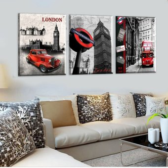 3 Piece Hot Sell Modern Wall Painting London city scenery HomeDecorative Art Picture Paint on Canvas Prints(No frame) - 3