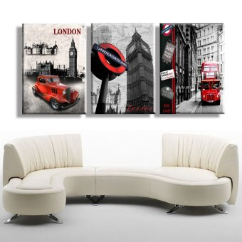 3 Piece Hot Sell Modern Wall Painting London city scenery HomeDecorative Art Picture Paint on Canvas Prints(No frame) - 4