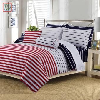 3 Pieces Fitted Sheet Beddings Cordovan Queen Size Bedsheet Set byCanadian (Red/White/Black) Price Philippines
