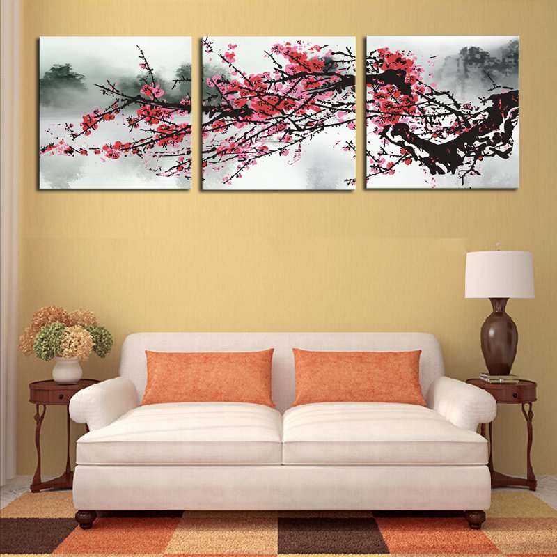 Philippines | 3 sets Red Plum Blossom Flowers Painting Art Cheap HD ...