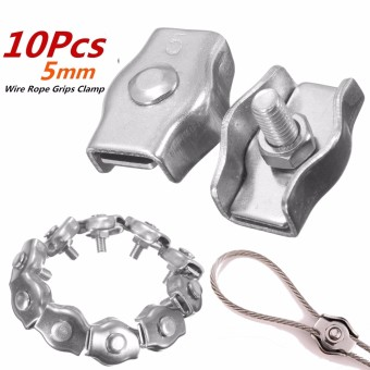 316Stainless Steel Wire Rope Simple Grip Cable Clamp M5 - Intl