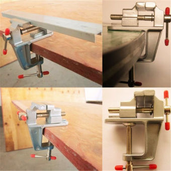 35 mm Mini Aluminum Bench Vise Jewelers Hobby Clamp On Table ToolVice - intl - 2