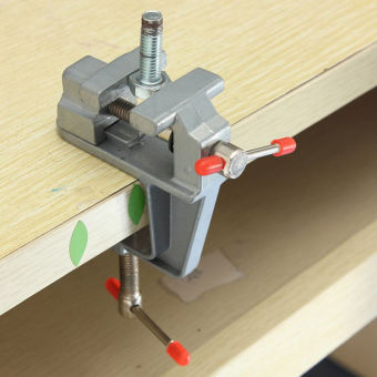 35 mm Mini Aluminum Bench Vise Jewelers Hobby Clamp On Table ToolVice - intl - 5