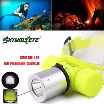 3500Lm CREE T6 LED Waterproof Underwater Diving Head light Lamp Flashlight Torch - intl