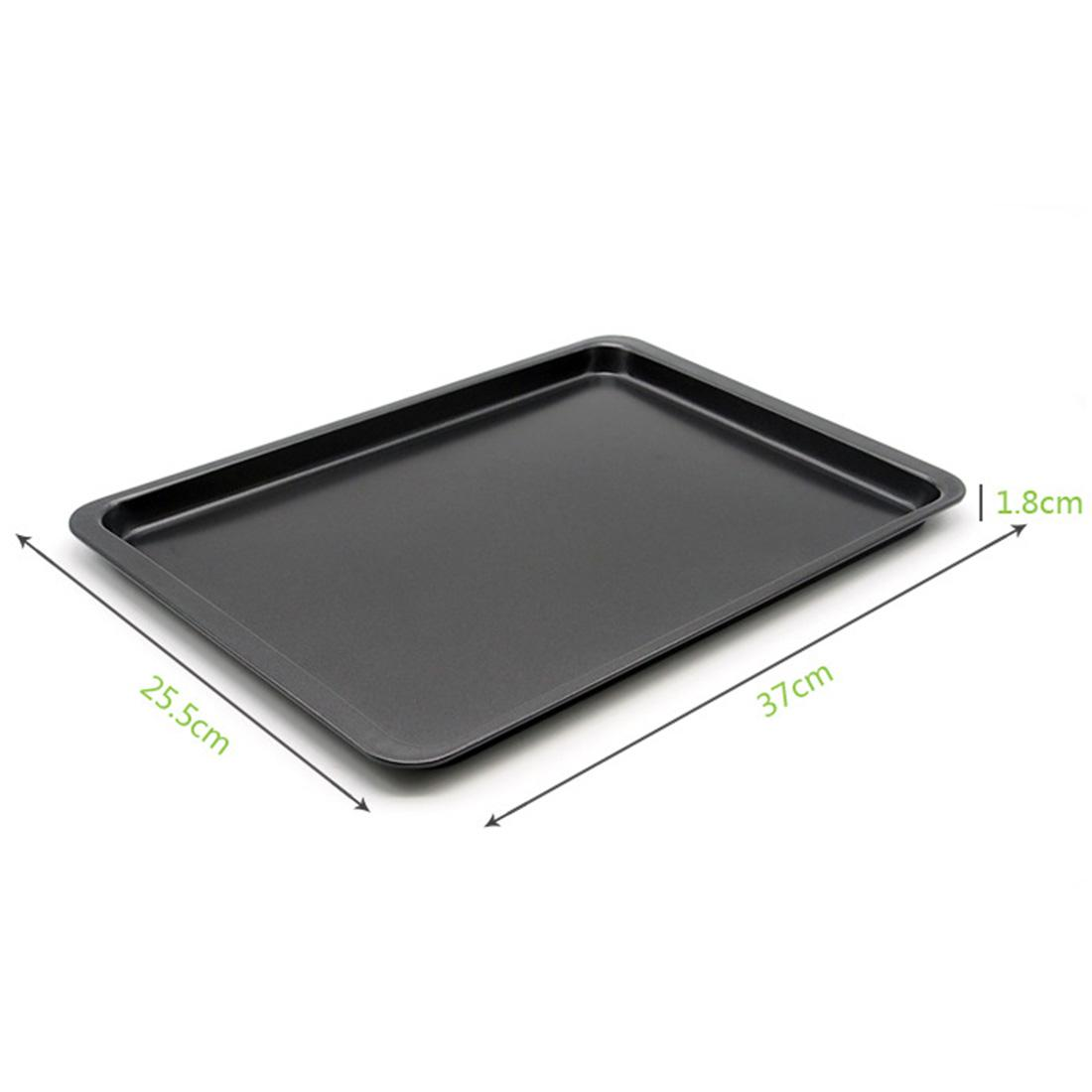 360DSC 14.5-Inch Rectangle Carbon Steel Non-stick Baking PanCookies Plate Use in Oven - Black