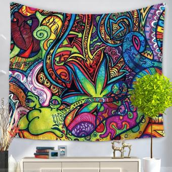 360DSC National Flavor Tapestries Multipurpose Household Blanketfor Beach Towel Bed Sheets Tablecloth Picnic Mat - GT1004-4 - intl