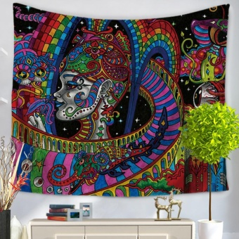 360DSC National Flavor Tapestries Multipurpose Household Blanketfor Beach Towel Bed Sheets Tablecloth Picnic Mat - GT1004-5 - intl