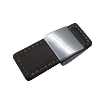 360DSC Simple Style Imitation Leather Door Cabinet Drawer HandlePull Knobs - Brown - intl